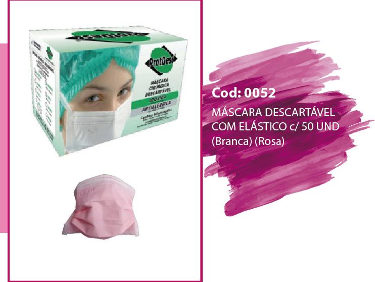 máscara descartável com elástico