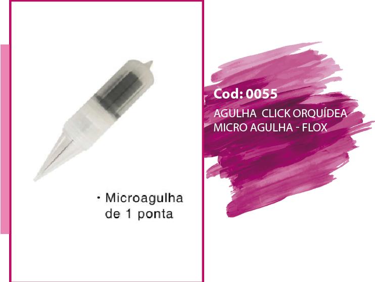 agulha click orquidea